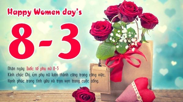Ảnh động chúc ngày quốc tế phụ nữ 8-3 hay nhất