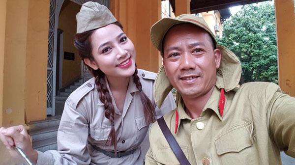 Diễn viên Lương Thanh Hằng và Đạo diễn Bình Trọng.