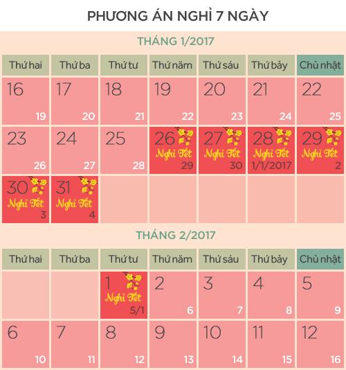 Lịch nghỉ tết 2017